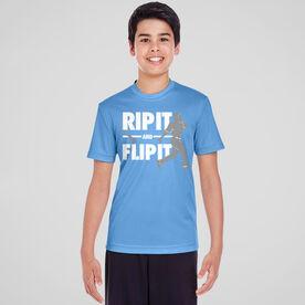Baseball Short Sleeve Performance Tee - Rip It Flip It