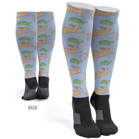 Running Printed Knee-High Socks - Tortoise and the Hare