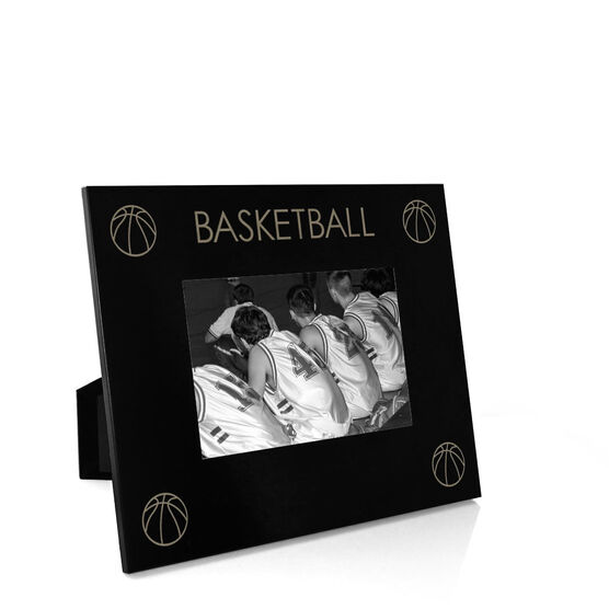 Basketball Engraved Picture Frame - Four Corners