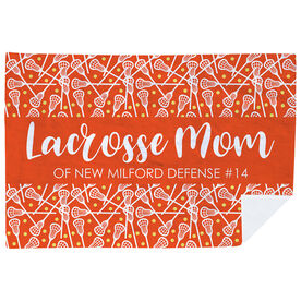 Girls Lacrosse Premium Blanket - Mom Stripe Custom Text