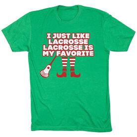 Guys Lacrosse Short Sleeve T-Shirt - Lacrosse's My Favorite