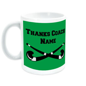 Field Hockey Coffee Mug Thanks Coach Crossed Sticks