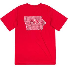 Men's Running Short Sleeve Tech Tee - Iowa State Runner