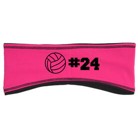 Volleyball Reversible Performance Headband Personalized Number Volleyball