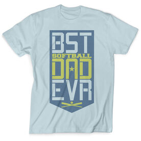Softball Vintage T-Shirt - Best Dad Ever Shield