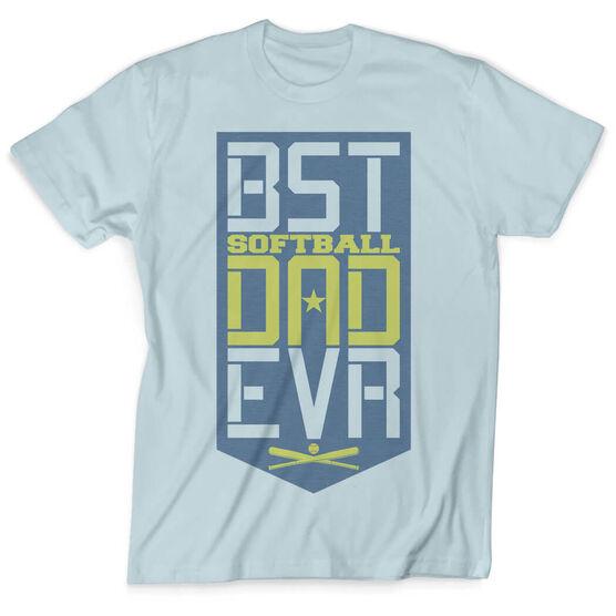 Softball Vintage T-Shirt - Best Dad Ever Shield