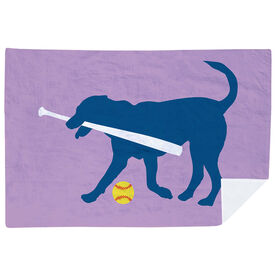 Softball Premium Blanket - Dog Fan
