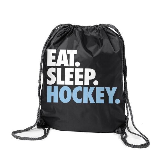 Hockey Sport Pack Cinch Sack Eat. Sleep. Hockey.