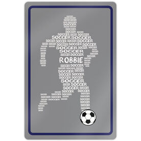 """Soccer Aluminum Room Sign Personalized Soccer Words Male (18"""" X 12"""")"""