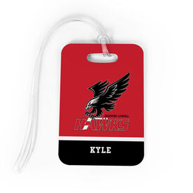 Bag Tag - Greater Lowell Hawks Hockey Logo with Name