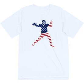 Football Short Sleeve Performance Tee - Football Stars and Stripes Player