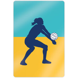 "Volleyball 18"" X 12"" Aluminum Room Sign - Girl Silhouette"