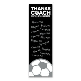 "Soccer 12.5"" X 4"" Removable Wall Tile - Thanks Coach (Autograph) Vertical"