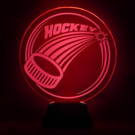 Hockey Acrylic LED Lamp Slap Shot