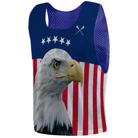 Guys Lacrosse Pinnie - Bald Eagle