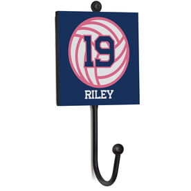 Volleyball Medal Hook - Ball With Name And Number