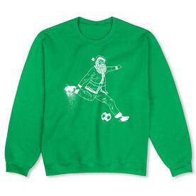 Soccer Crew Neck Sweatshirt - Santa Soccer