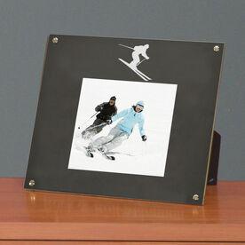 Skiing Photo Display Frame Skier Silhouette