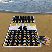 Hockey Premium Beach Towel - Personalized Player Pattern