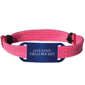 Field Hockey Lace Bracelet Live Love Field Hockey Adjustable Sport Lace Bracelet
