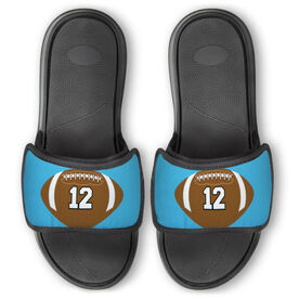 Football Repwell® Slide Sandals - Football With Number