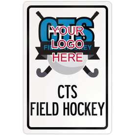"Field Hockey 18"" X 12"" Aluminum Room Sign Field Hockey Custom Logo With Team Name"