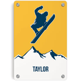 Snowboarding Metal Wall Art Panel - Personalized Airborne