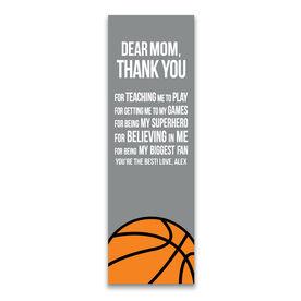 "Basketball 12.5"" X 4"" Removable Wall Tile - Dear Mom (Vertical)"