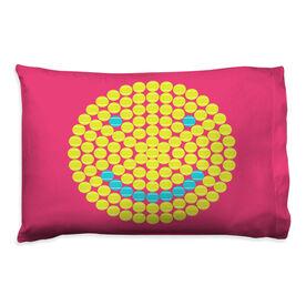 Tennis Pillowcase - Happiness Ball Circle