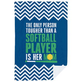Softball Premium Blanket - Tougher Than A Softball Player