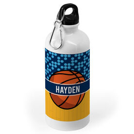 Basketball 20 oz. Stainless Steel Water Bottle - Personalized 2 Tier Patterns with Basketball