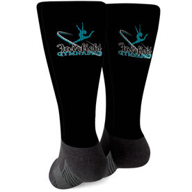 Gymnastics Printed Mid-Calf Socks - Your Logo