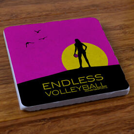 Endless Volleyball (Female) - Marble Stone Coaster