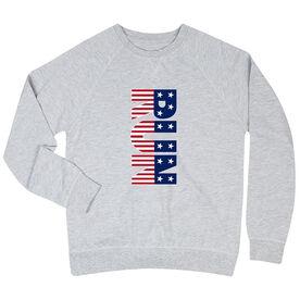 Running Raglan Crew Neck Sweatshirt - Patriotic Run