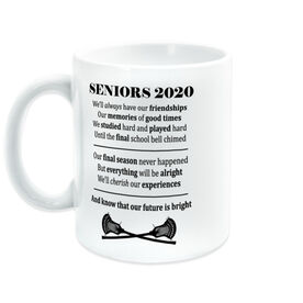 Guys Lacrosse Coffee Mug - Seniors 2020 Our Future Is Bright