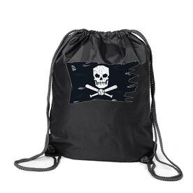Baseball Sport Pack Cinch Sack - Baseball Pirate Flag