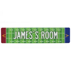 "Football Aluminum Room Sign - Personalized Football Room (4""x18"")"