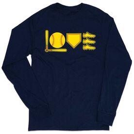 Softball Tshirt Long Sleeve - Love To Play