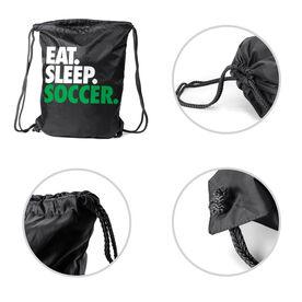 Soccer Sport Pack Cinch Sack Eat. Sleep. Soccer.