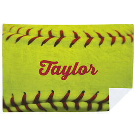 Softball Premium Blanket - Personalized Stitches