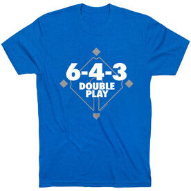 Baseball Tshirt Short Sleeve 6-4-3 Double Play