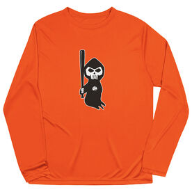 Baseball Long Sleeve Performance Tee - Baseball Reaper