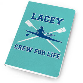 Crew Notebook Personalized Crossed Oars And Girl Rower