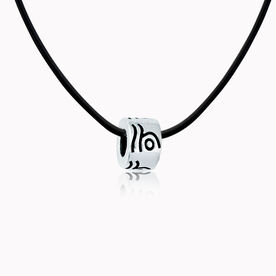 Sterling Silver Swimmer Large Hole  Bead Necklace