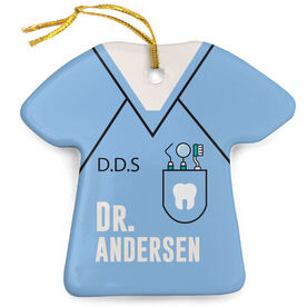 Personalized Porcelain Ornament - Dentist Outfit