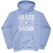 Baseball Hooded Sweatshirt - Raised In a Cage