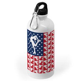 Figure Skating 20 oz. Stainless Steel Water Bottle - American Flag