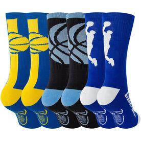 Basketball Woven Mid-Calf Sock Set - Elite