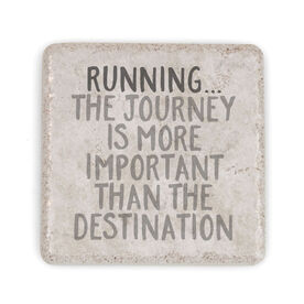 Running Stone Coaster - Running... The Journey Is More Important