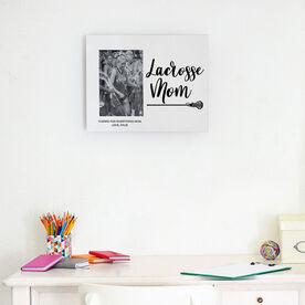Girls Lacrosse Photo Frame - Lacrosse Mom Script